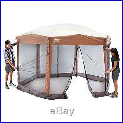 Coleman 12 x 10 Instant Screened Canopy Screen House Camping Tent Shelter Shade