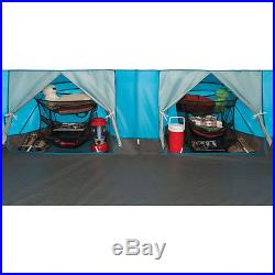 Coleman 2000018060 Echo Lake 8 Person Fast Pitch Cabin Tent with Cabinets