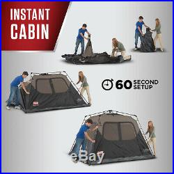 Coleman 4-Person Instant Cabin Tent Outdoor Family Camping Dome Cabin Tents