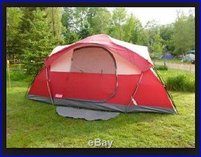 Coleman 8 Person Dome Tent Camping Outdoor Hiking Waterpoof Instant Family Room