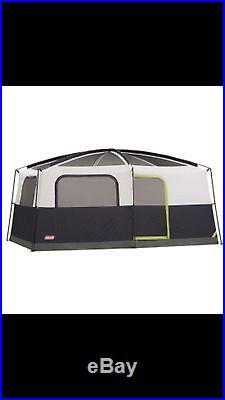 Coleman Camping Tent Prairie Breeze 9 Person WeatherTec Fan & Light 14 x 10' NIB