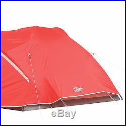 Coleman Hooligan 4 Person Waterproof Backpacking Camping Dome Tent with Rainfly
