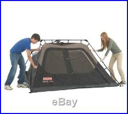 Coleman Instant Cabin 4-Person Black Camping Tent Shelter Outdoor Sleep 8x7 ft