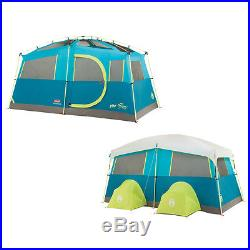 Coleman Tenaya Lake Fast Pitch Camping Tent Cabin with Cabinets 6 Person