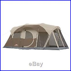 Coleman WeatherMaster 6-Person Screen Tent Camping Family Cabin Outdoor Shelter