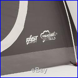 Coleman Yarborough Pass Fast Pitch 6 Person 12 x 7 Family Camping Tent withRainfly