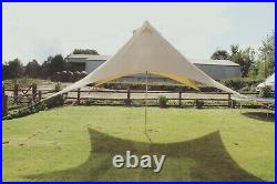 Cotton Canvas Star Shelter/Canopy for Bell Tent Camping Awning