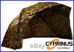 Cyprinus 55 CAMO4 Helios Oval Carp Fishing Space Saving Brolly Shelter