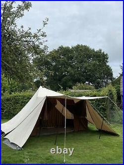 De Waard Albatros Dutch Canvas Pyramid Tent, Awning, 2 Side Wings Etc