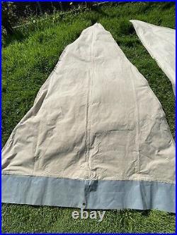 De Waard Albatros Dutch Canvas Pyramid Tent, Awning, 2 Wings, Hanging Storage