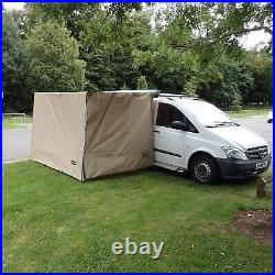 Direct4x4 Expedition Pullout Awning 2.5mx2.2m Granite Grey Side Windbreak Wall