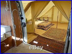 DubPod Drive Away Camper Van Canvas Awning by Bell Tent Boutique