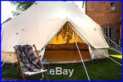 Emperor Bell Tent 100% Canvas Zipped in groundsheet by Bell Tent Boutique