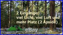 Expeditionszelt everest1953 grün Geodät Kuppelzelt 1 Personen Zelt Silikon TP1