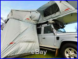 Extended Ventura Deluxe 1.4 Roof Top Tent + Annex Camping Overland Defender 4x4