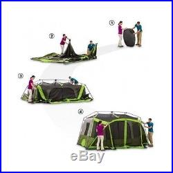 FAMILY INSTANT CABIN TENT CAMPING OUTDOOR SCREENED BEACH ROOM 9 PERSON SHELTER