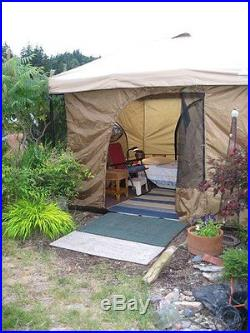 Family Cabin Camping Tent Standing Head Room 8.5 feet 4 Screen Doors Easy Set Up
