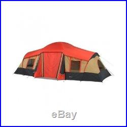 Family Camping Tent Ozark Trail 10-Person 3-Room Cabin Tent With Front Porch
