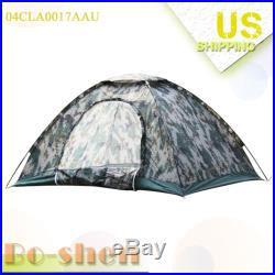 Family Outdoor Camping Waterproof 2-3 person Camouflage tent Portable Folding