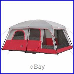 Family Outdoor Tent Red 10 Person 2 Camping Outdoors Hiking Room Instant Cabin