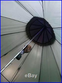 Family Teepee Tent 18'x18' Sleeps 10-12 People, Green Guide Gear Army Surplus