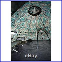 HQ ISSUE 10x10 foot Teepee Tent Camo sleeps 6