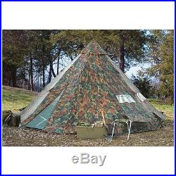 HQ ISSUE 18x18 foot Teepee Tent Camo 12 person