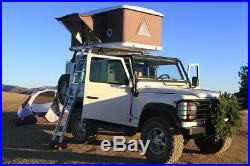 Hard-shell Roof Top Tent Crank Style, Bug Nets, Mattress Included, Car or Truck
