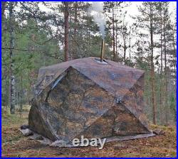 Hot Tent with Wood Stove Heater for Camping Fishing in Cold Weather 4 Season Kit