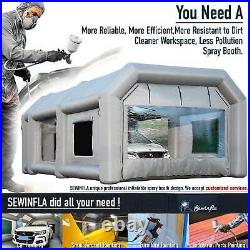 Inflatable Spray Booth Paint Tent Mobile Portable Car Workstation 23x13x8FT USA