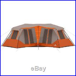 Instant Camping 8 Person Cabin Tent Orange Outdoor Shelter Family Hiking Travel