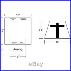 Kodiak Canvas Tent 6051 Six-Person 10 x 10 Ft. Tent Hydra-Shield
