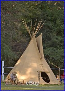 Komplettes Ø 3m Tipi Indianerzelt Indianer Zelt lining