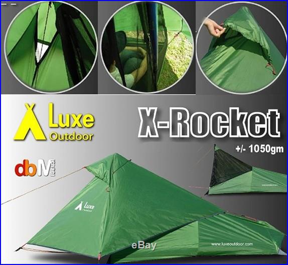 LUXE X-ROCKET Ultralight 1 man TENT Bivy Tarp Fly Sheet is Also a Poncho NEW