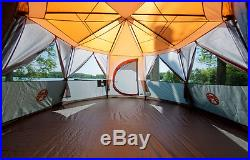Large 360 Degrees Coleman Cortes Octagon 8 Person Tent Summer House