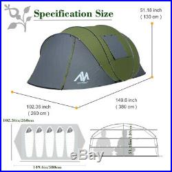 Large 5-6Person Dome Family Pop Up Tent Double Layer Waterproof Portable Camping