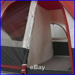 Large 8 Person Dome Camping Tent With Rear Window 16 x 8 Ft 2 Rooms Family Outdoor