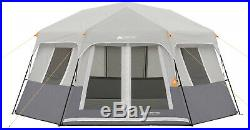Large 8-Person Instant Hexagon Cabin Tent Family Outing Camping Easy Set up NEW