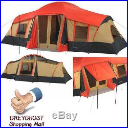 Large Family Cabin 10 Person Tent Camping Hiking Outdoor Ozark Canopy 3 Room New