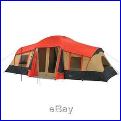 Large Family Cabin Tent Camping Hiking Outdoor Ozark Canopy 10 Person 3 Room New