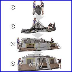 Large Family Camping Tent 10 Person 3 Room XL Outdoor Cabin Gear Hunting Shelter