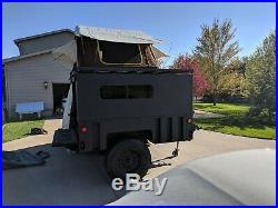 M1102 trailer With Custom Top And Rooftop Tent