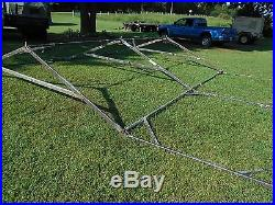 MILITARY 16x16 FRAME TENT CAMPING HUNTING ARMY VINYL CANVAS STOVE JACK SURPLUS