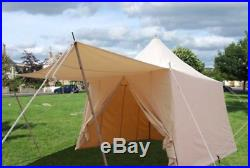 Medieval Slantwall Pavillion White canvas square with awning SCA Tent SALE
