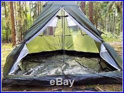 Military&Outdoor 3+1 Man Pyramid Tipi Tent Camping Hunting Waterproof Shelter