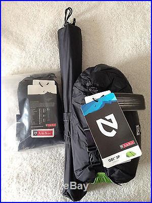NEMO Obi 3P Ultralight Backpacking Tent 3 Person NEW W/ FOOTPRINT No Reserve & NEMO Obi 3P Ultralight Backpacking Tent 3 Person NEW W/ FOOTPRINT ...