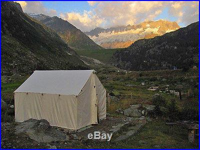 NEW! 10x12x5ft Outfitter Canvas Wall Tent Hunting Camping Glamping