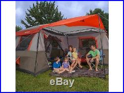 NEW! 12 Person Camping Tent 3 Rooms Hiking Family Fun Cabin Trail Hunting