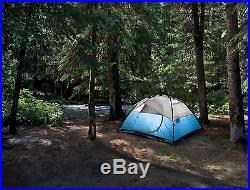 NEW! COLEMAN 4 Person Instant Dome Waterproof Camping Double Hub Tent 8' x 7