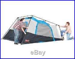 NEW! COLEMAN 6 Person Family Camping Cabin Tent with Mini-Fly 10' x 9